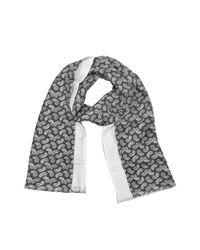 Forzieri - Black Paisley Print Silk Reversible Men's Scarf for Men - Lyst