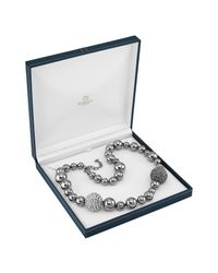 AZ Collection | Gray Mirror Polished Ball Necklace | Lyst