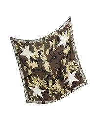 Givenchy - Green Camouflage Stars Printed Wool And Silk Wrap for Men - Lyst