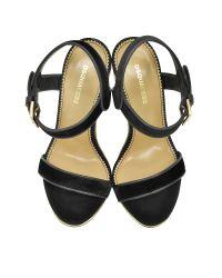 DSquared² Natural Black Velvet And Suede High Heel Sandal