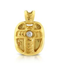 Colgante Cruz Oro 18k y Diamante Central Orlando Orlandini de hombre de color Metallic
