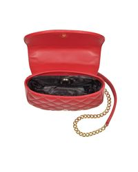 Love Moschino - Red Superquilted Eco-leather Small Crossbody Bag - Lyst