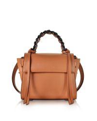 Elena Ghisellini | Brown Small Angel Sensua Canyon Leather Satchel Bag | Lyst