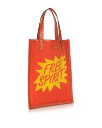 Paul Smith - Men's Orange And Yellow Free Spirit Print Tote Bag - Lyst