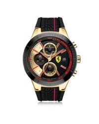 Ferrari - Metallic Red Rev Evo Black And Red Stainless Steel Case And Silicone Strap Men's Chrono Watch for Men - Lyst
