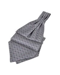 FORZIERI | Gray Micro Paisley Print Silk Ascot for Men | Lyst