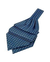 FORZIERI   Blue Polkadot Printed Twill Silk Ascot for Men   Lyst