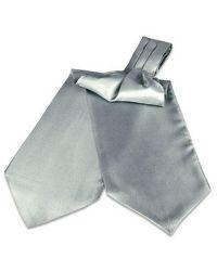 FORZIERI | Metallic Solid Silk Ascot for Men | Lyst