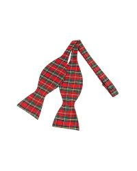 FORZIERI | Red & Green Plaid Printed Silk Self-tie Bowtie for Men | Lyst