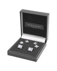 FORZIERI - Metallic Studs - Silver-Plated Cufflink Gift Set for Men - Lyst