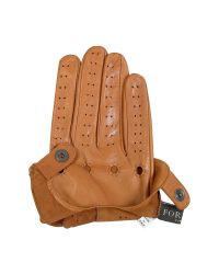 FORZIERI - Brown Men's Tan Italian Leather Driving Gloves for Men - Lyst