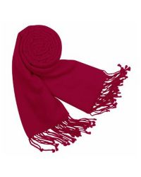 FORZIERI | Red Solid Pashmina & Silk Fringed Shawl | Lyst