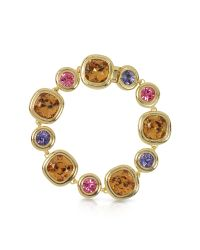 FORZIERI | Purple, Pink And Orcher Crystals Bracelet | Lyst
