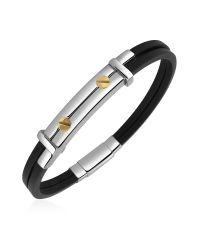 FORZIERI | Multicolor Men's Stainless Steel And Rubber Screws Bracelet for Men | Lyst