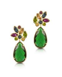 FORZIERI Green Crystal Drop Earrings