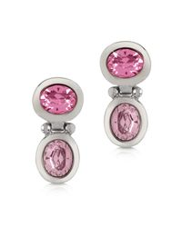 FORZIERI | Pink Crystal Earrings | Lyst
