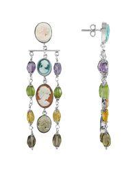 Mia & Beverly - Metallic Cameo Cascade Earrings - Lyst