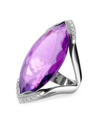 FORZIERI | Purple Amethyst And Diamond White Gold Fashion Ring | Lyst