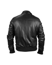 FORZIERI - Men's Black Leather Motorcycle Jacket for Men - Lyst