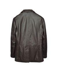 FORZIERI - Dark Brown Italian Leather Blazer for Men - Lyst
