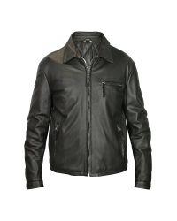 FORZIERI | Men's Black Leather Zip Jacket for Men | Lyst
