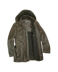 FORZIERI | Detachable Hood Dark Brown Leather Car Coat for Men | Lyst