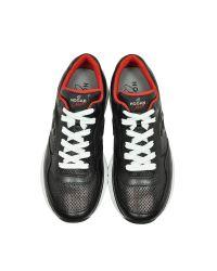 Hogan - Club Black Leather Sneaker for Men - Lyst