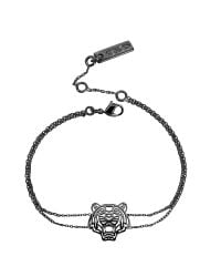 KENZO - Multicolor Ruthenium Plated Sterling Silver Cut Out Tiger Bracelet - Lyst