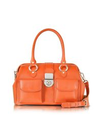 L.A.P.A. Pink Front Pocket Calf Leather Doctor-style Handbag
