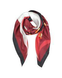 Laura Biagiotti - Multicolor Floral Print Silk Square Scarf - Lyst