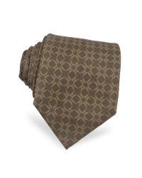 Moreschi   Brown Printed Silk Tie for Men   Lyst