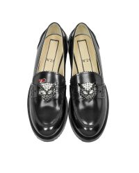 N°21 New Air Black Leather Women's Loafer