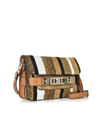 Proenza Schouler - Brown Ps11 Mini Classic Exotic Strip Dune Leather And Suede Shoulder Bag - Lyst
