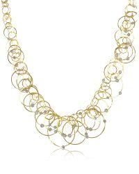 Orlando Orlandini - Scintille Anniversary - Diamond 18k Yellow Gold Necklace - Lyst