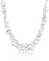Orlando Orlandini   Metallic Scintille Anniversary - Diamond 18k White Gold Chain Necklace   Lyst