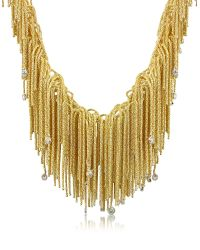 Orlando Orlandini - Flirt - Diamond Drops 18k Yellow Gold Thread Necklace - Lyst
