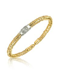 Orlando Orlandini | Metallic Scintille - Diamond 18k Yellow Gold Bracelet | Lyst