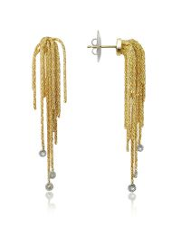 Orlando Orlandini | Flirt - Diamond Drops 18k Yellow Gold Earrings | Lyst