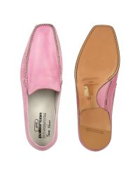 Pakerson - Pink Italian Handmade Leather Loafer Shoes for Men - Lyst