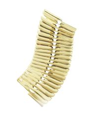Pluma | Metallic Gold Fishbone Bangle | Lyst