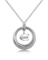 Just Cavalli | Metallic Infinity - Logo Pendant Chain Necklace | Lyst