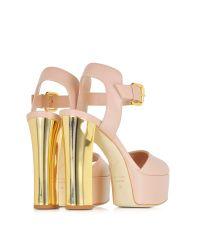 Giuseppe Zanotti - Pink Lavinia Sand Nappa Platform Sandal - Lyst