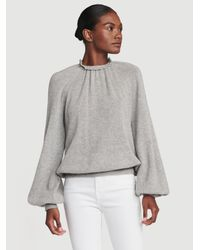 FRAME Gray Sustainable Cashmere Femme Tissue Sweatshirt