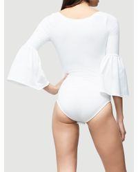 FRAME White Bell Bodysuit