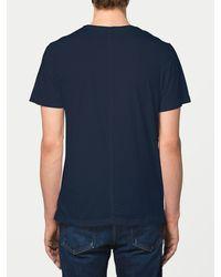 FRAME - Blue Jersey Short Sleeve Crew Neck for Men - Lyst