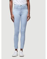 FRAME Blue Le High Skinny Gusset Step