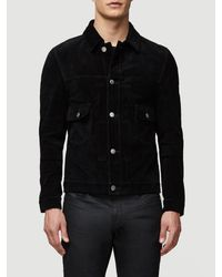 FRAME Black Suede Breakaway Jacket for men
