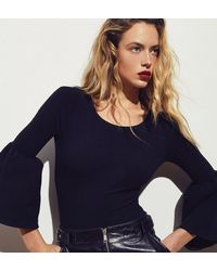 FRAME Fluted Stretch-cotton Jersey Bodysuit Black