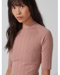 Frank And Oak | Multicolor Machine-washable Merino Mockneck Sweater In Cafe Creme | Lyst