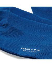 Frank + Oak 2-pack Cotton Socks In French Blue for men